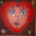 50 Lebensuhr m.Uhrwerk   Acryl/Keilrahmen 30x30     55 €