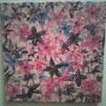 36 Lila Blüten     Acryl/Keilrahmen 40x40     35 €