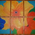 8 Blüten  (6 tlg.)    Acryl/Keilrahmen  -je- 30x40   120 €
