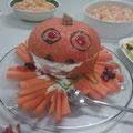 Auch das Essen wurde der Party angepasst