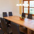 Designer Esszimmertisch in Weiß-Eiche