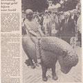 1989 06 03 Slagharen heeft bronzen pony.