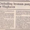 1989 06 03 Onthulling bronzen pony in Slagharen.