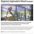 2018 02 07 Lanceerachtbaan Slagharen nagebouwd in 'Planet Coaster'.