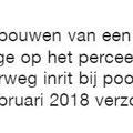 2018 02 01 Omgevingsvergunning afgegeven voor de bouw van een nieuwe portiersloge bij poort 7.