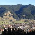 Erster Ausblick auf Oberammergau