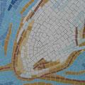 détail du poisson en mosaïque