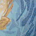 détail des mouvements d'eau en mosaïque