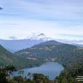 Blick auf den Vulkan Villarica vom Nationalpark Huerquehue aus.