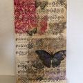 Kleine Collage im Vintage-Style auf Leinwand zum aufhängen oder hinstellen,
