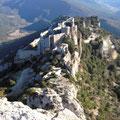 vue sur Peyrepertuse depuis la chapelle San Jordi