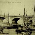 photo ancienne du pont de pierre à Bordeaux (musée du vin et du négoce) Bordeaux
