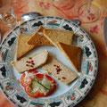 restaurant in Chalabre: die Vorspeise mit Foie Gras und einem Muscatwein