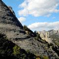 Montserrat, chemin menant au sommet de San Jeroni (1236m)