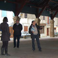 Führung in Chalabre (Aude), Markthalle
