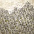 Connect_112.0×145.5cm_段ボール 麻紙 アルミ箔 岩絵具_2009
