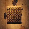 Golden block_30.0×30.0cm_麻紙 金属箔 墨