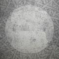 Outside=Inside_116.7×116.7cm_鳥の子紙 鉛筆 墨 ボールペン_2010