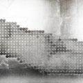 468円の女_60.6×72.7cm_麻紙 アルミ箔 鉛筆 一円硬貨/フロッタージュ_2014
