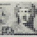 GRD1,000=JPY945_42.0×90.0cm_麻紙 鉛筆 一円硬貨/フロッタージュ_2016