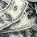 4186円の紙幣_182.0×92.0cm_麻紙 鉛筆 一円硬貨/フロッタージュ_2017