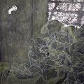 Life_112.0×145.5cm_麻紙 水干絵具 岩絵具 アルミ箔 パステル_2008