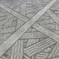Crossing_112.0×145.5cm_鳥の子紙 墨 ボールペン 鉛筆_2011