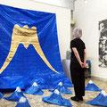個展「青いテントと五つの輪」YOD Gallery/大阪