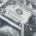 One dollar bills (one yen)_180.0×90.0cm_麻紙 鉛筆 一円硬貨/フロッタージュ_2019