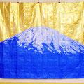 Blue mountain_255.0×345.0cm_ブルーシート アクリル絵具 金属箔_2013