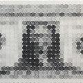 USD1=JPY990 44.0×90.0cm_44.0×90.0cm_麻紙 鉛筆 一円硬貨/フロッタージュ_2016