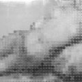835円の女_60.6×72.7cm_麻紙 アルミ箔 鉛筆 一円硬貨/フロッタージュ_2015