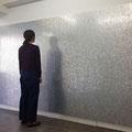 One(Wall of aluminium)_180.0×360.0_パネル 一円硬貨_2014
