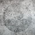 Inside=Outside_116.7×116.7cm_鳥の子紙 鉛筆 墨 ボールペン_2010