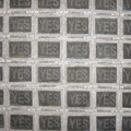 NO_162.0×162.0cm_麻紙 墨 水干絵具 岩絵具 アルミ箔 色鉛筆_2009