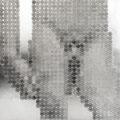 725円の男_60.6×72.7cm_麻紙 アルミ箔 鉛筆 一円硬貨/フロッタージュ_2014