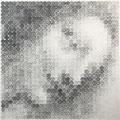 Madonna(one cent)_60.0×60.0cm_麻紙 鉛筆 一セント硬貨/フロッタージュ_2018