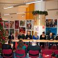 Dibattito fra artisti e pubblico presente