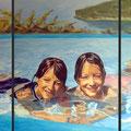 Zwillinge, 2006, Acryl auf Leinwand, 180 x 100 cm