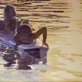 Sonnenuntergang, 2009, Acryl auf Leinwand, 100 x 80 cm