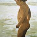 M am Meer, 2006, Acryl auf Leinwand, 90 x 145 cm