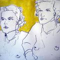 Porträt gelb, 2007, Graphit auf Papier, 42 x 60 cm