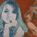 Tagtraum, 2016, Acryl und Papier auf Leinwand, 60 x 85 cm
