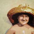 L mit Hut, 2006, Acryl auf Leinwand, 70 x 50 cm