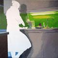 Auszeit, 2009, Acryl auf Leinwand, 90 x 145 cm