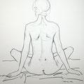 gestärkt, 2014, Kohle auf Papier, 42 x 60 cm