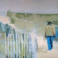 Seite an Seite, 2009, Acryl auf Leinwand, 90 x 145 cm