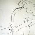 Tanz der Moleküle, 2008, Graphit auf Papier, 42 x 60 cm