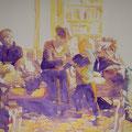 Patchwork, 2013, Acryl auf Leinwand, 90 x 145 cm