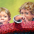 Schaukel, 2006, Acryl auf Leinwand, 100 x 60 cm